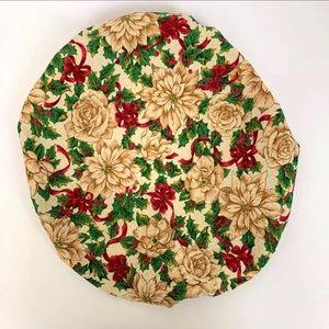 Poinsettia Christmas Surgical Scrub Hat